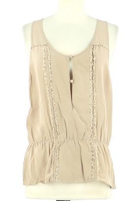 Bel Air Beige Silk Top for Women