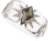 Alexis Bittar Large Lucite Lone Star Bangle, Clear