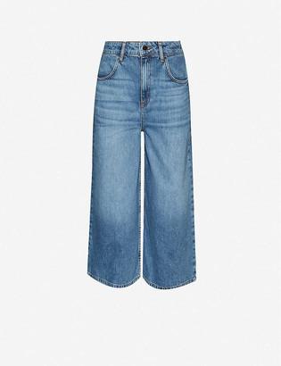 Claudie Pierlot Pastele cropped wide-leg high-rise jeans