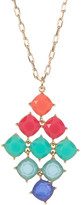 Carolee 12K Gold Stone Kite Pendant Necklace