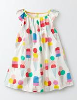 Boden Printed Flutter Sleeve Dress