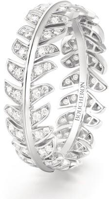 Boucheron White Gold and Diamond Plume de Paon Wedding Band