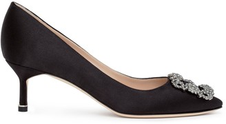 Manolo Blahnik Hangisi 50 black satin pump