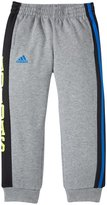 adidas Warm Up Fleece Pants (Toddler/Kid) - Gray/Blue-4T