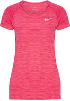 Nike Paneled Dri-fit Stretch T-shirt - Fuchsia