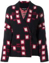 Emporio Armani square pattern knitted blazer