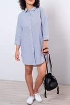 Jacqueline De Yong Oversized Striped Shirt Dress