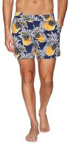 Vilebrequin Pineapple Print Merise Swim Trunks