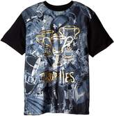 Akademiks Men's Big-Tall Trophies Allover Print T-Shirt