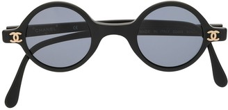 Chanel Pre Owned CC rounded sunglasses