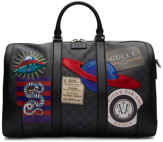 Gucci Black Soft GG Supreme Night Courrier Carry-On Duffle Bag