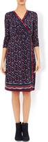 Monsoon Frankie Twist And Drape Print Dress