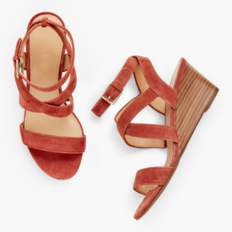 Talbots Royce Strappy Wedges - Suede