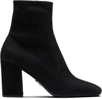 Prada Mid-Heel Ankle-Length Boots
