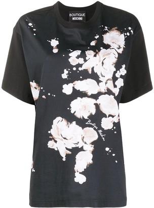 Boutique Moschino logo floral print T-shirt