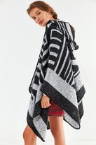 Urban Outfitters Cozy Geo Print Hoodie Poncho