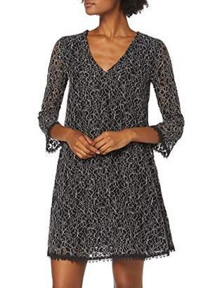 Trussardi Jeans Women's Dress Flower Lace Black K299, (Size: 44)