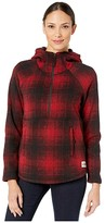 The North Face Printed Crescent Hooded Pullover (TNF Red Ombre Plaid Small Print) Women's Coat