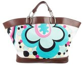 Emilio Pucci Leather Trimmed Pattern Print Tote