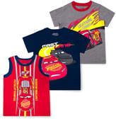 Children's Apparel Network Boys' Tee Shirts NAVY - Cars Lightning McQueen Tee & Tank Set - Toddler