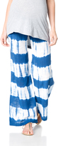 A Pea in the Pod Pull On Style Cotton Woven Wide Leg Maternity Pants