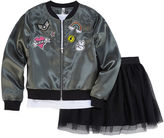 Knitworks Knit Works Bomber Jacket Skirt Set - Girls 7-16