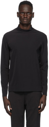 JACQUES Black Performance Mock Neck T-Shirt