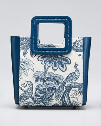 STAUD Shirley Peacock Canvas Mini Tote Bag