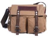 Tsd Brand Hidden Woods Canvas Messenger Bag