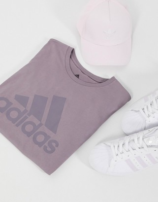 adidas Badge of Sport t-shirt in legacy purple