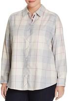 Foxcroft Plus Plaid Button-Down Shirt