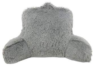 Elements by Arlee Charcoal Heather Warmly Shaggy Faux Fur Bed Rest Lounger Support Pillow