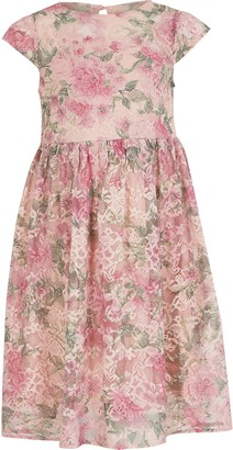 River Island Girls Chi Chi Pink floral lace dress