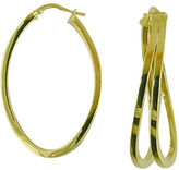 Lord & Taylor 14K Yellow Gold Polished Hoops