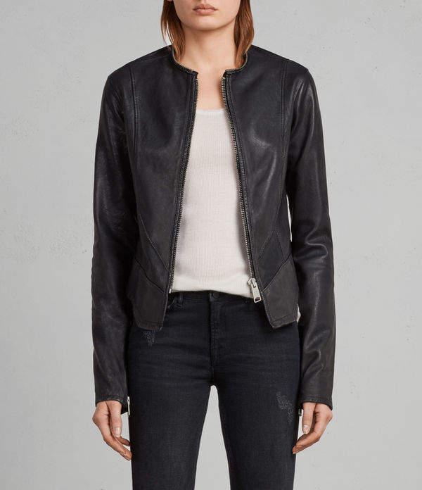 AllSaints Calle Leather Blazer