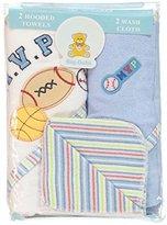 Big Oshi M.V.P. 4-Pack Hooded Towels & Washcloths - blue, one size by Big Oshi