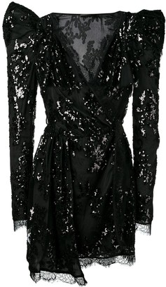 Amen Sequin Embroidered Dress