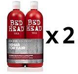 BedHead TIGI Bed Head Resurrection (2) Shampoo/(2) Conditioner (25.36oz x4) Double Duo