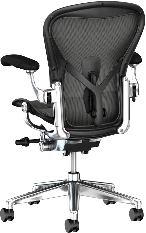 Herman Miller Aeron Office Chair, Graphite/Polished Aluminium