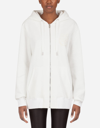 Dolce & Gabbana Jersey Hoodie With Embroidery