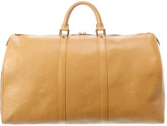 Louis Vuitton Beige Epi Leather Keepall 50