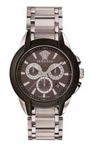 Versace 42.5mm Men's Character Chronograph Watch, Silver/Black