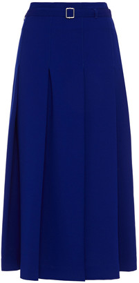 Paul Smith Belted Pleated Cady Midi Skirt
