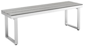 Walker Edison All-Weather Grey Patio Dining Bench