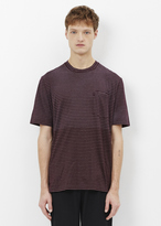 Lanvin plum washed simple stripe crew neck t-shirt