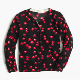 J.Crew Girls' Caroline cardigan sweater in cherry print
