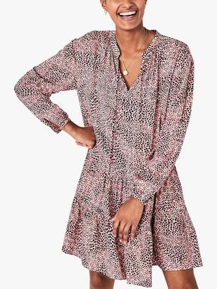 Hush Ferdi Spot Print Tiered Dress, Pink