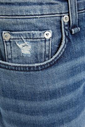 Rag & Bone Dre Cropped Distressed Mid-rise Boyfriend Jeans