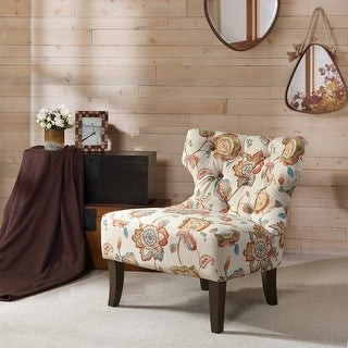 Madison Home USA Bree Hourglass Tufted Armless Chair