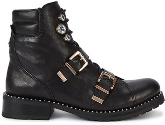 Sophia Webster Ziggy 40 black leather biker boots